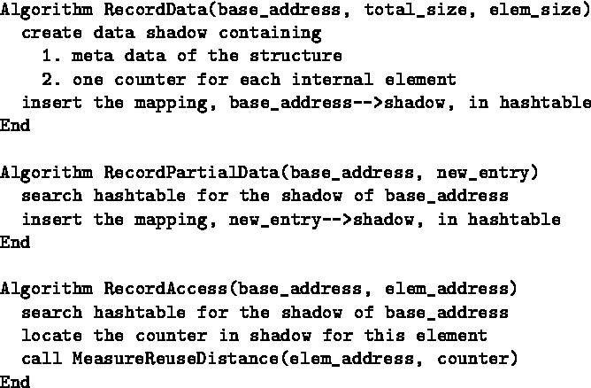 Figure 4: Algorithm for runtime calls