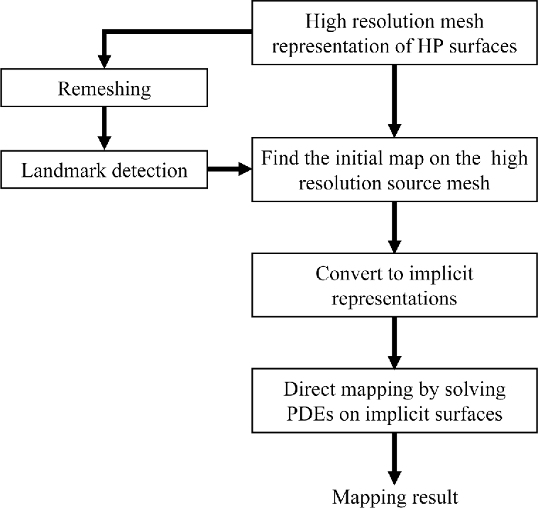 Direct mapping of hippocampal surfaces with intrinsic shape context on