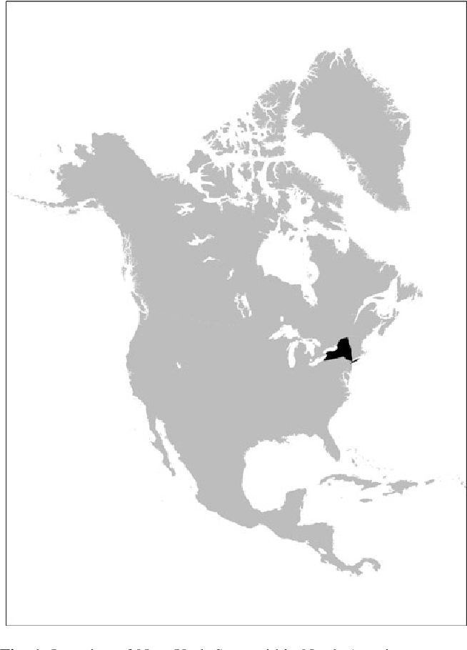 Fig. 1 Location of New York State within North America