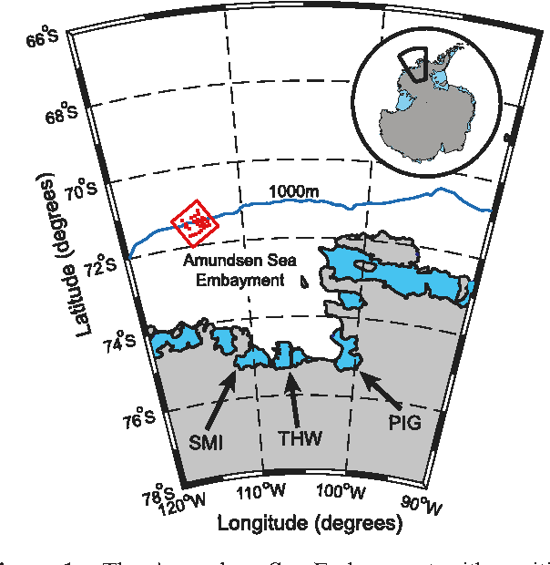 the amundsen sea embayment with positions of major fast-flowing glaciers  draining