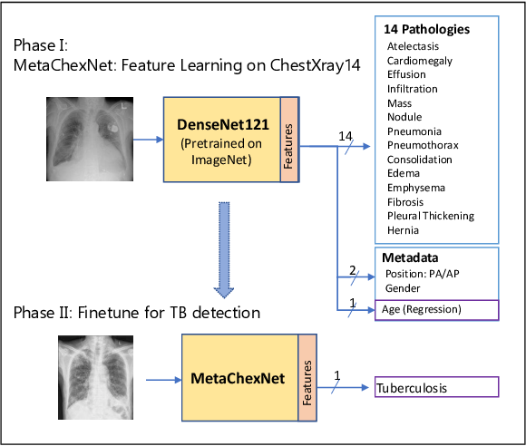 Figure 1 for Deep Feature Learning from a Hospital-Scale Chest X-ray Dataset with Application to TB Detection on a Small-Scale Dataset