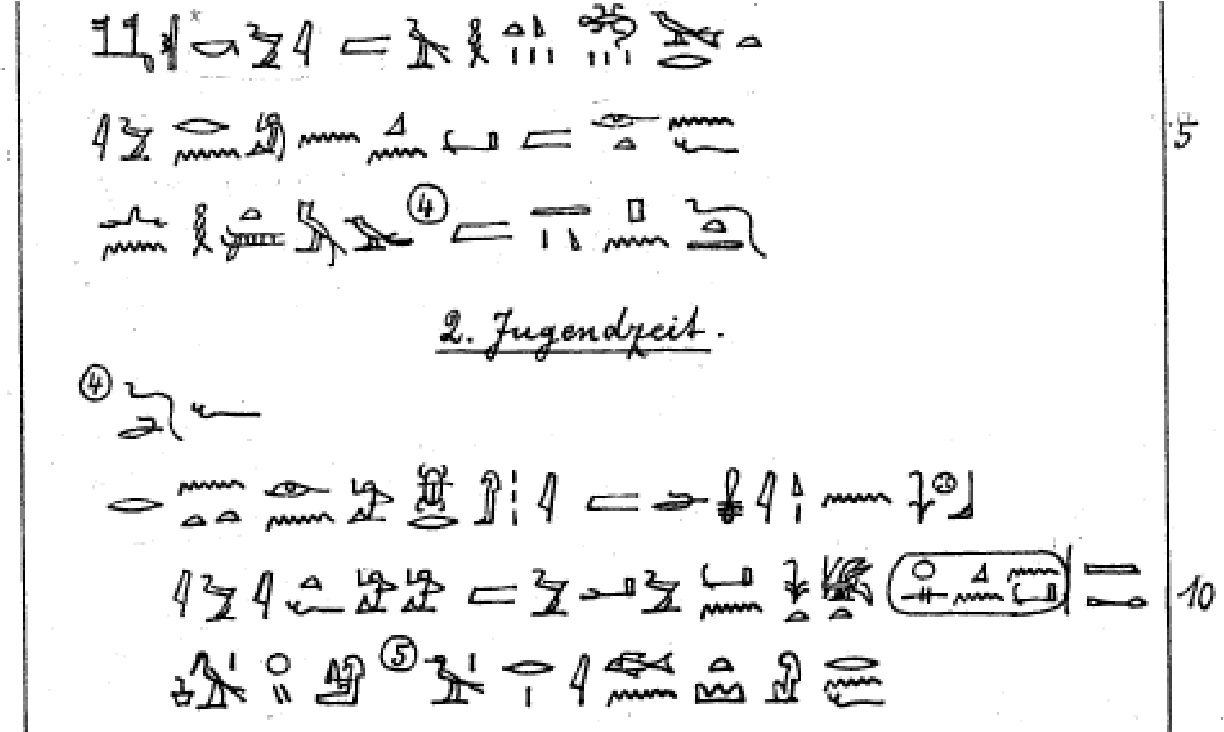 Ocr of handwritten transcriptions of ancient egyptian hieroglyphic figure 1 buycottarizona Choice Image