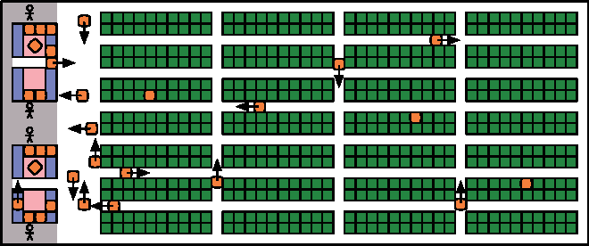 Figure 3 for Optimal Target Assignment and Path Finding for Teams of Agents