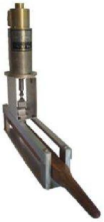 Fig. 7. The haptic carillon single-baton prototype