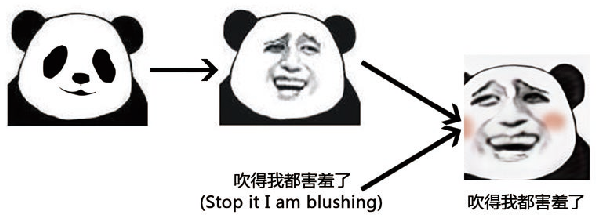 Figure 1 for MemeFaceGenerator: Adversarial Synthesis of Chinese Meme-face from Natural Sentences