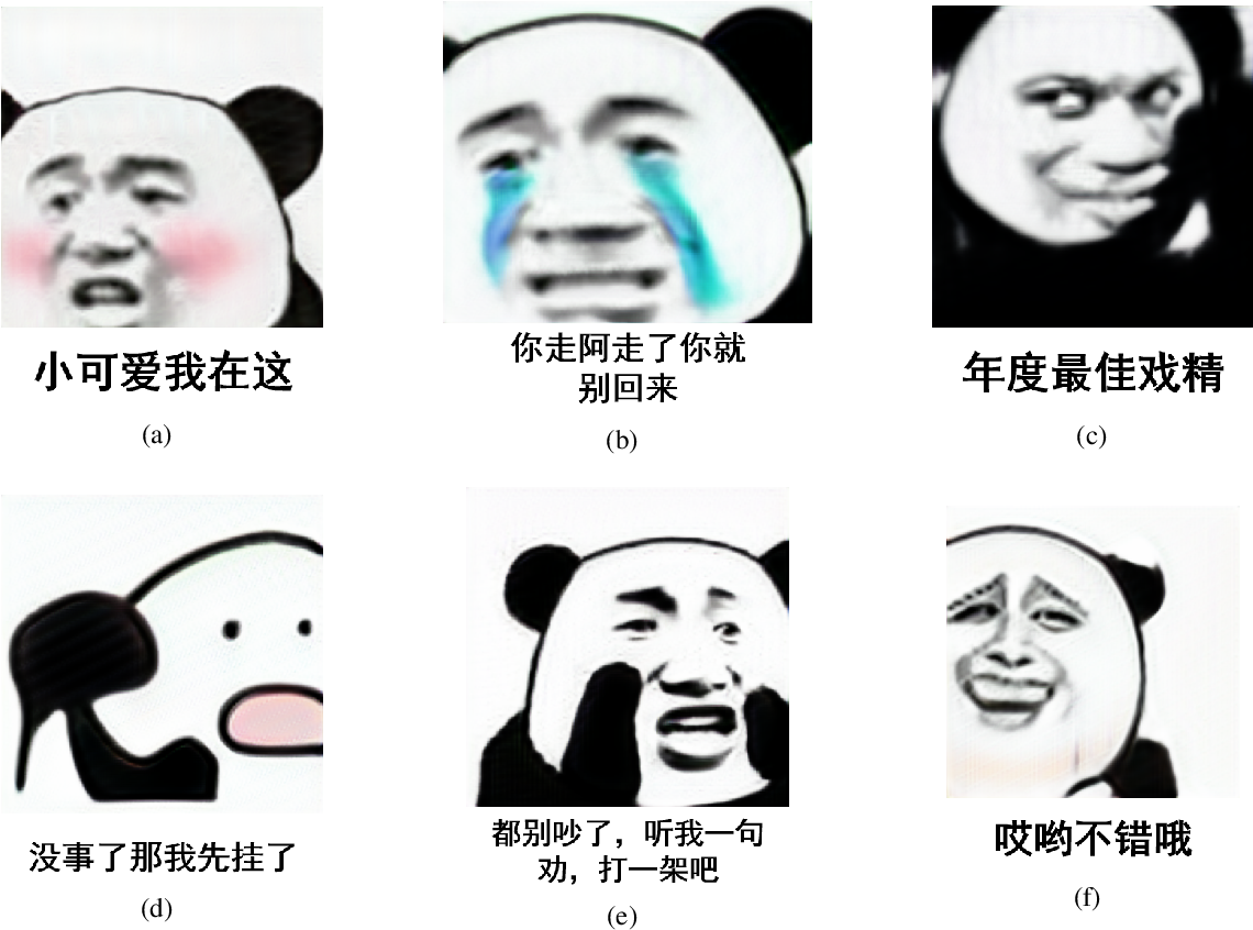 Figure 4 for MemeFaceGenerator: Adversarial Synthesis of Chinese Meme-face from Natural Sentences