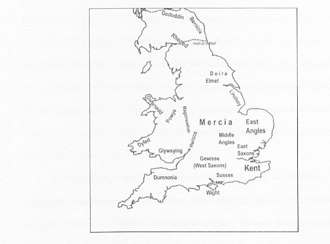 Map Of England 850.Pdf Burial Practices In Northern England C A D 650 850 A Bio