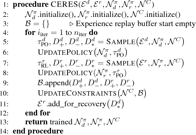 Figure 4 for Constrained Exploration and Recovery from Experience Shaping