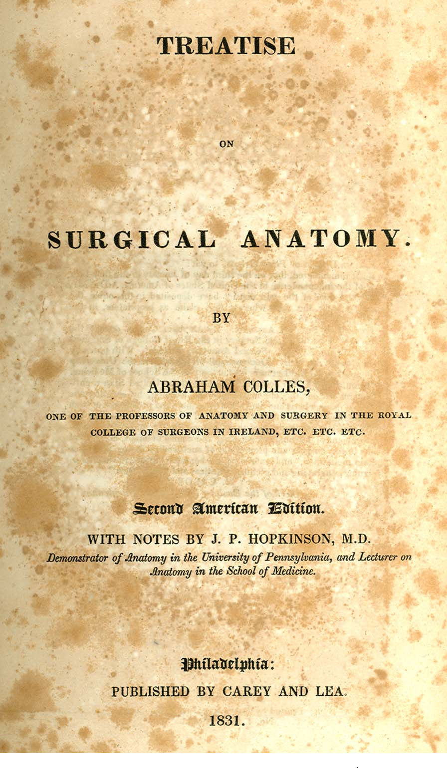 Figure 2 from Abraham Colles and his contributions to anatomy ...