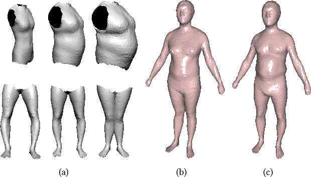 Figure 1 for Shape-from-Mask: A Deep Learning Based Human Body Shape Reconstruction from Binary Mask Images