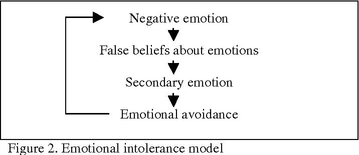 Figure 2. Emotional intolerance model