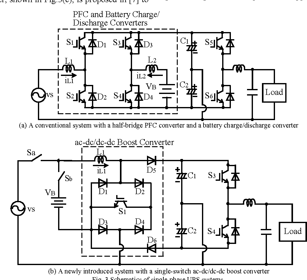 Comparative Study Of Power Factor Correction Converters For Single Circuit Diagram A Typical Boost Converter Phase Half Bridge Inverters Semantic Scholar