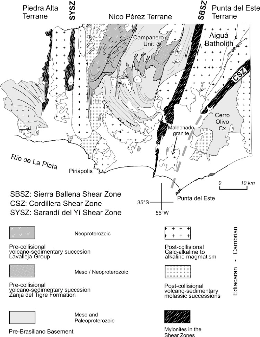 The Sierra Ballena Shear Zone in the southernmost Dom