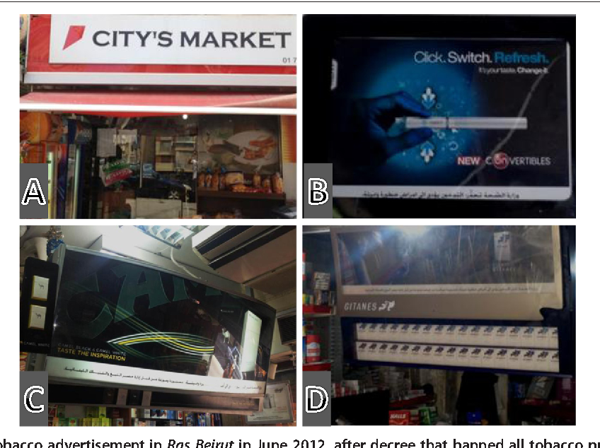 Figure 1 from Point-of-sale tobacco advertising in Beirut