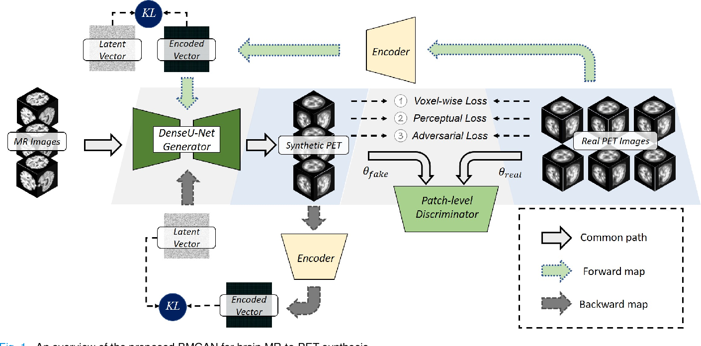 Figure 1 for Bidirectional Mapping Generative Adversarial Networks for Brain MR to PET Synthesis