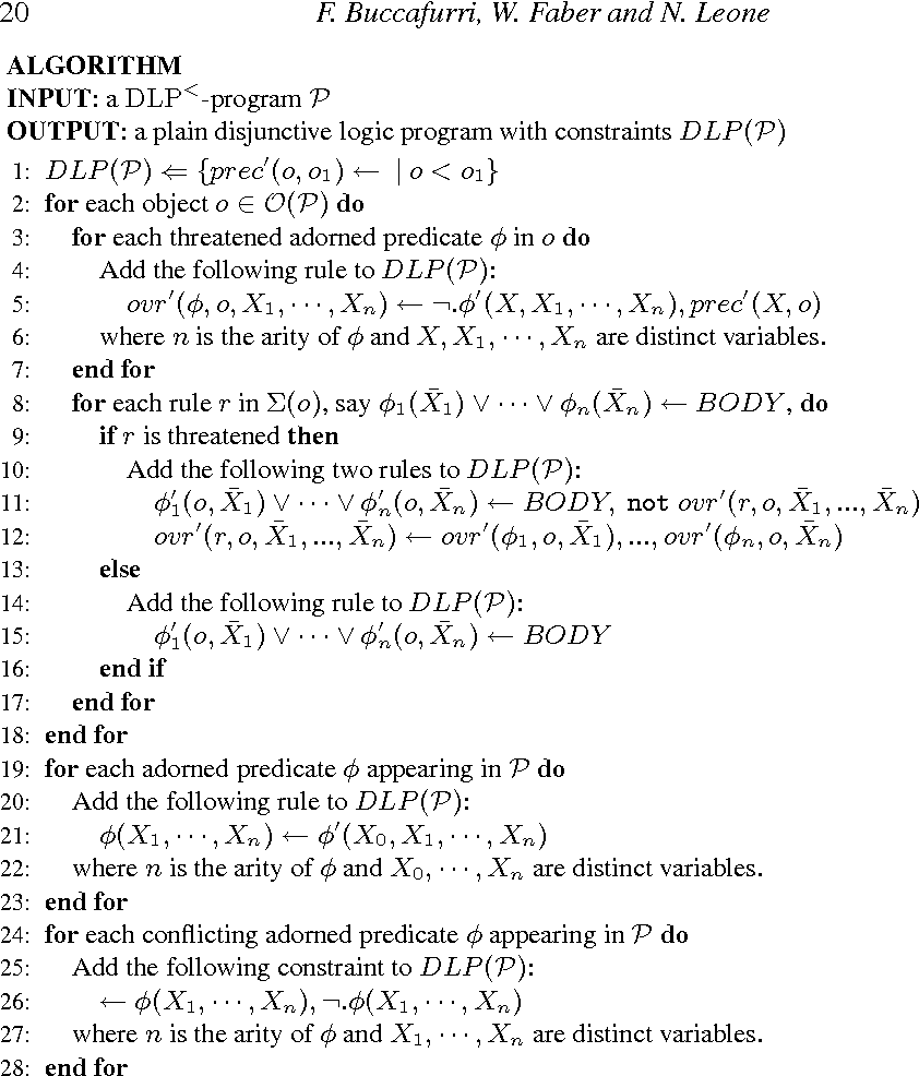 Figure 2 for Disjunctive Logic Programs with Inheritance
