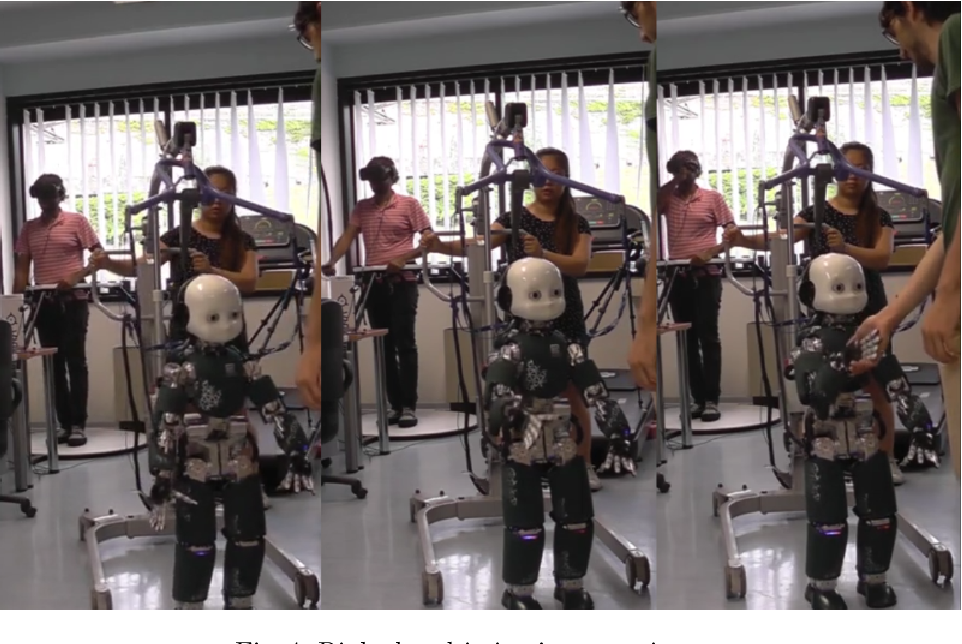 Figure 4 for Telexistence and Teleoperation for Walking Humanoid Robots