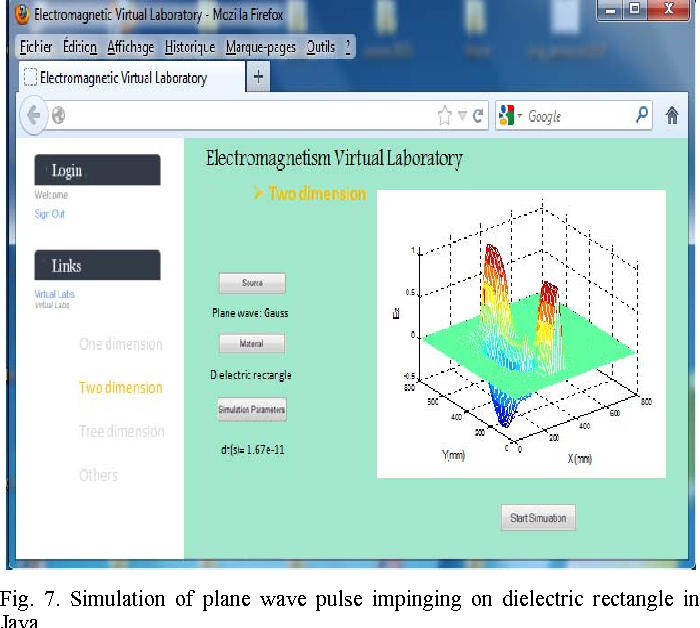 Figure 7 from Virtual laboratory for teaching electromagnetism using