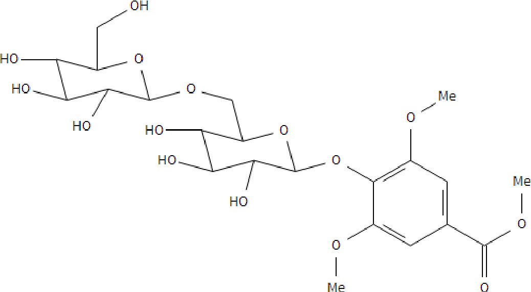 Figure 4: The chemical structure of methyl syringate 4 -O-β-D-gentiobiose (leptosin).