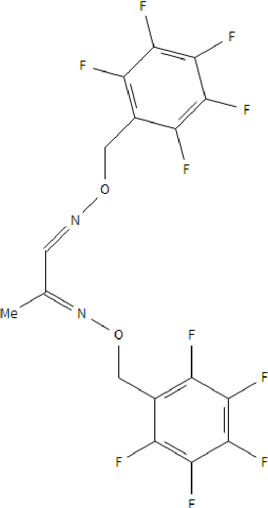 Figure 13: The chemical structure of the bis-pentafluorobenzyl -oxime derivat ive of methylglyoxal.