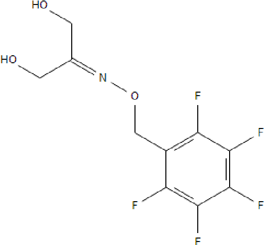 Figure 19: Chemical structure of the pentaf luorobenzyl –oxime derivative of dihydroxyacetone.