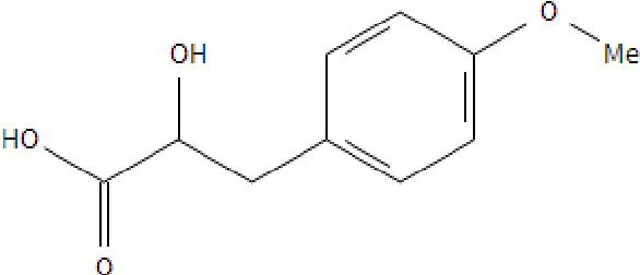 Figure 21: The chemical structure of 4-methoxyphenyllactic acid .
