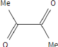 Figure 24: The chemical structure of butane-2,3-dione also known as diacetyl .