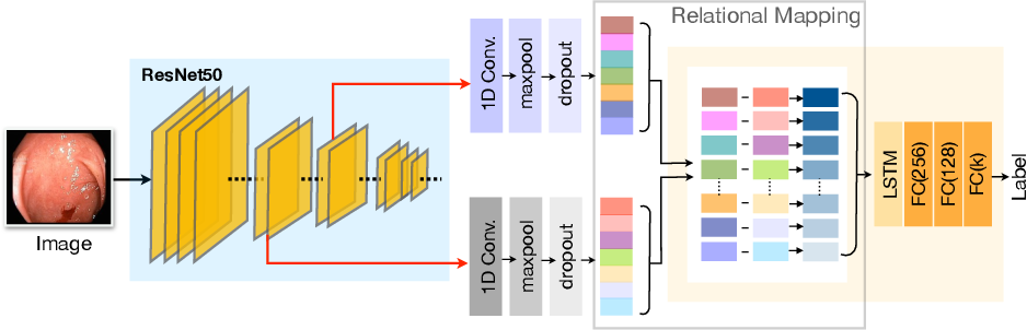Figure 1 for Two-Stream Deep Feature Modelling for Automated Video Endoscopy Data Analysis
