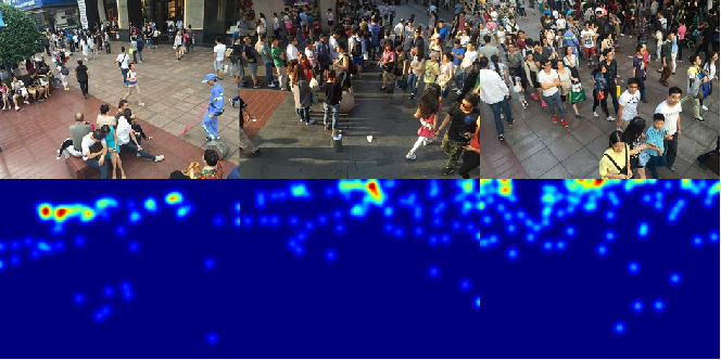 Figure 1 for CSRNet: Dilated Convolutional Neural Networks for Understanding the Highly Congested Scenes