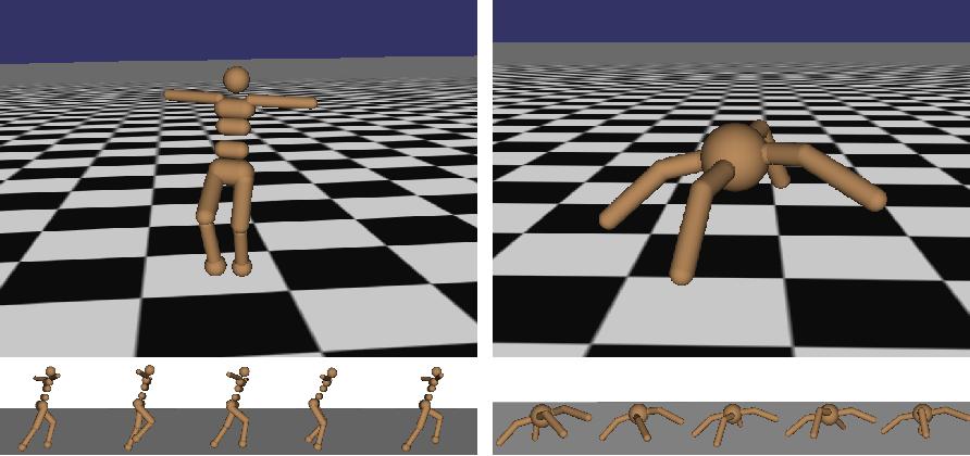 Figure 1 for High-Dimensional Continuous Control Using Generalized Advantage Estimation