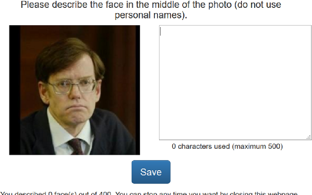 Figure 3 for Face2Text: Collecting an Annotated Image Description Corpus for the Generation of Rich Face Descriptions