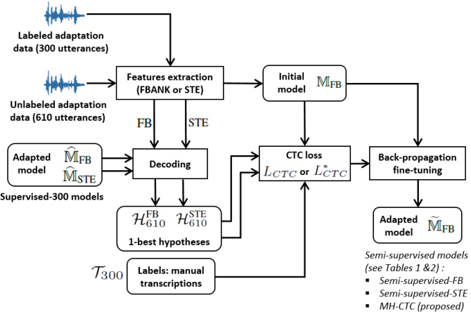 Figure 3 for Multiple-hypothesis CTC-based semi-supervised adaptation of end-to-end speech recognition