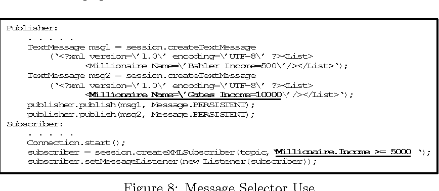 Figure 8: Message Selector Use
