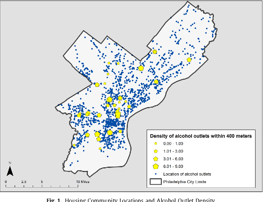 Alcohol Outlet Density And Related Use In An Urban Black Population - Philadelphia outlets map