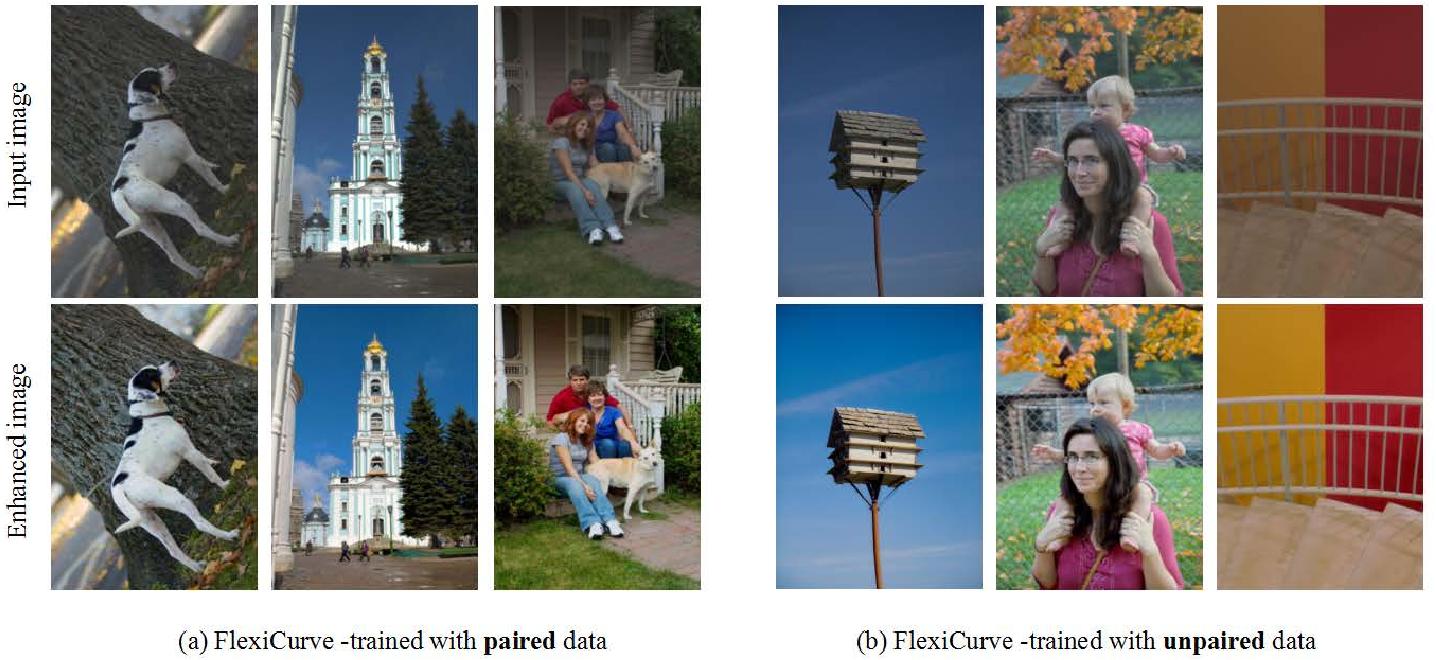 Figure 1 for Flexible Piecewise Curves Estimation for Photo Enhancement