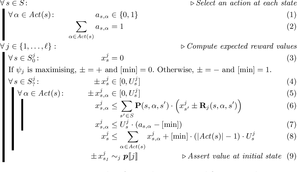 Figure 3 for Simple Strategies in Multi-Objective MDPs (Technical Report)