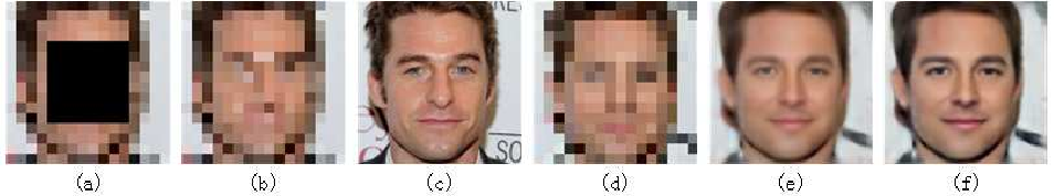 Figure 1 for Hallucinating very low-resolution and obscured face images