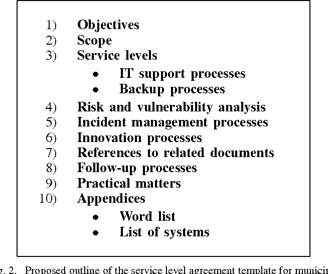 Service Level Agreements In Municipal It Dependability Management