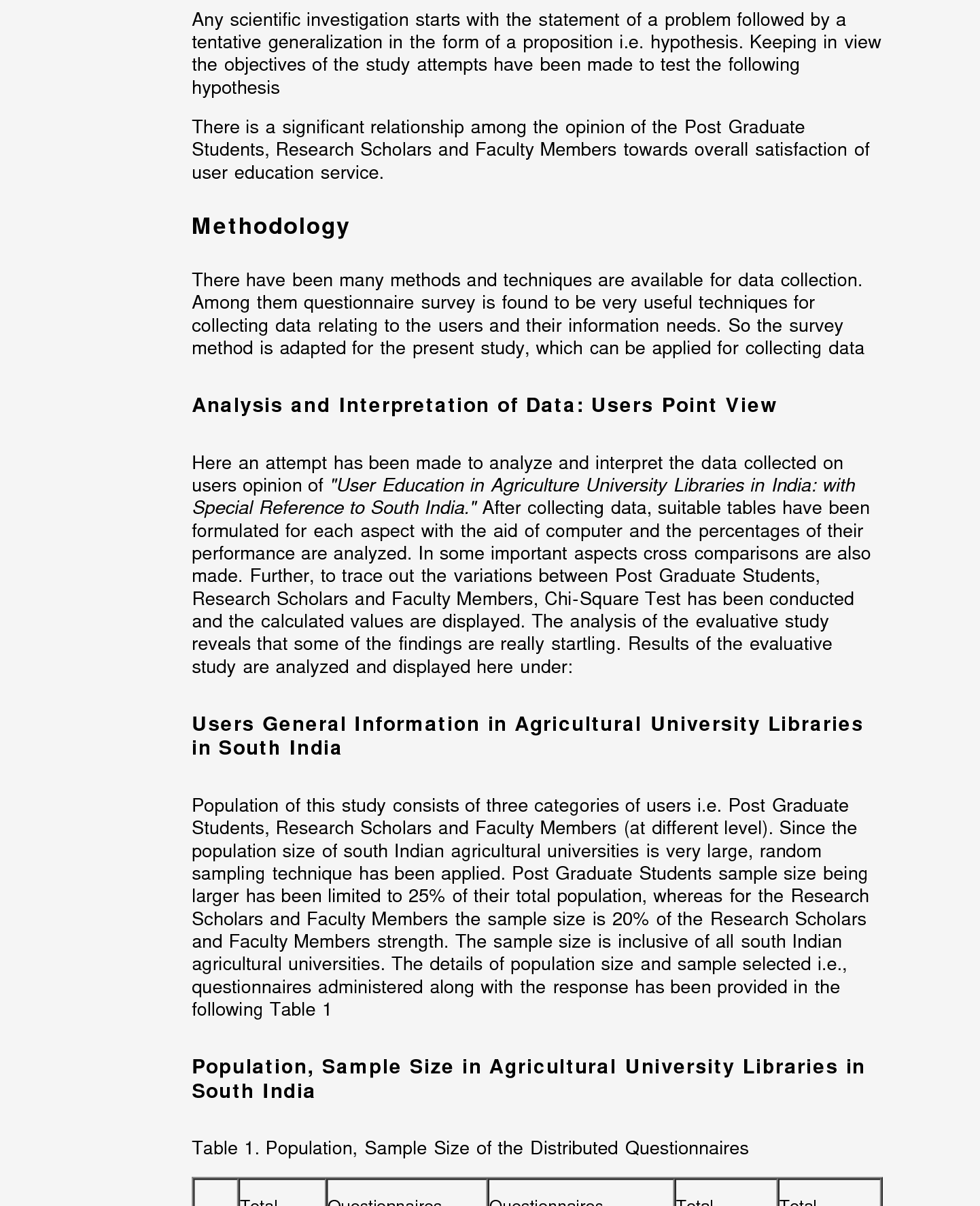 PDF] User Education in Agricultural Science University Libraries in