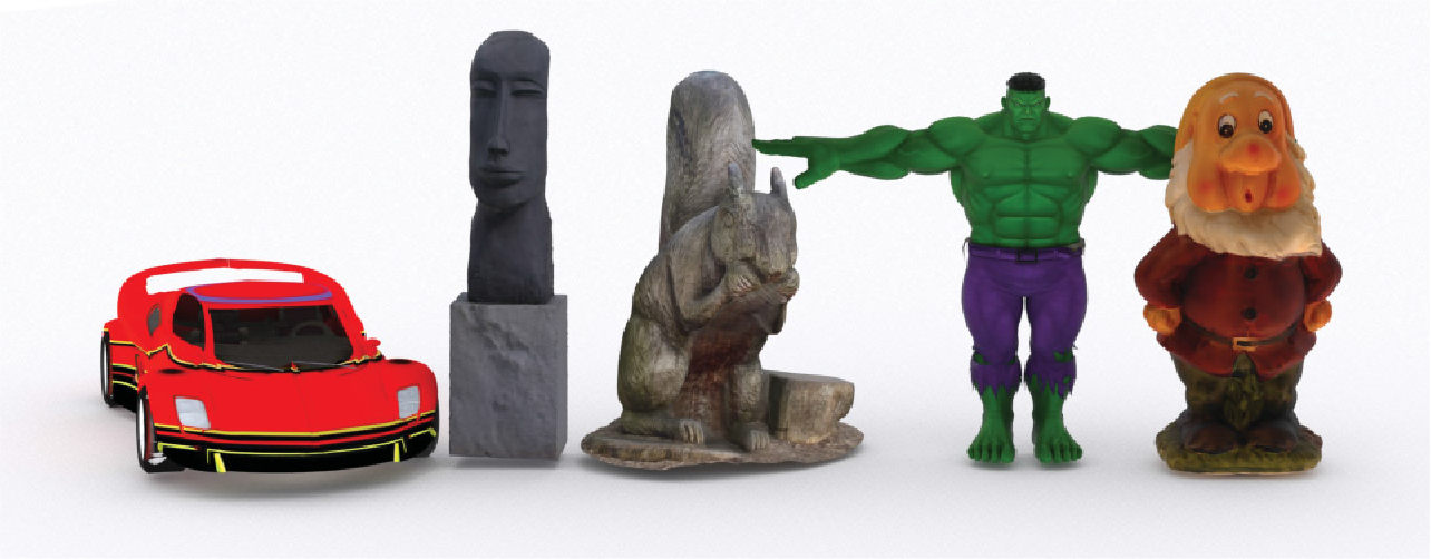 Figure 1 for Subjective and Objective Visual Quality Assessment of Textured 3D Meshes