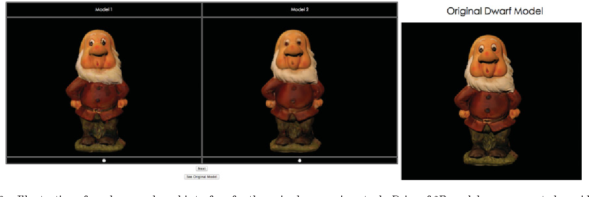 Figure 3 for Subjective and Objective Visual Quality Assessment of Textured 3D Meshes
