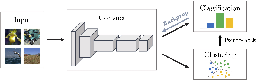 Figure 1 for Deep Clustering for Unsupervised Learning of Visual Features