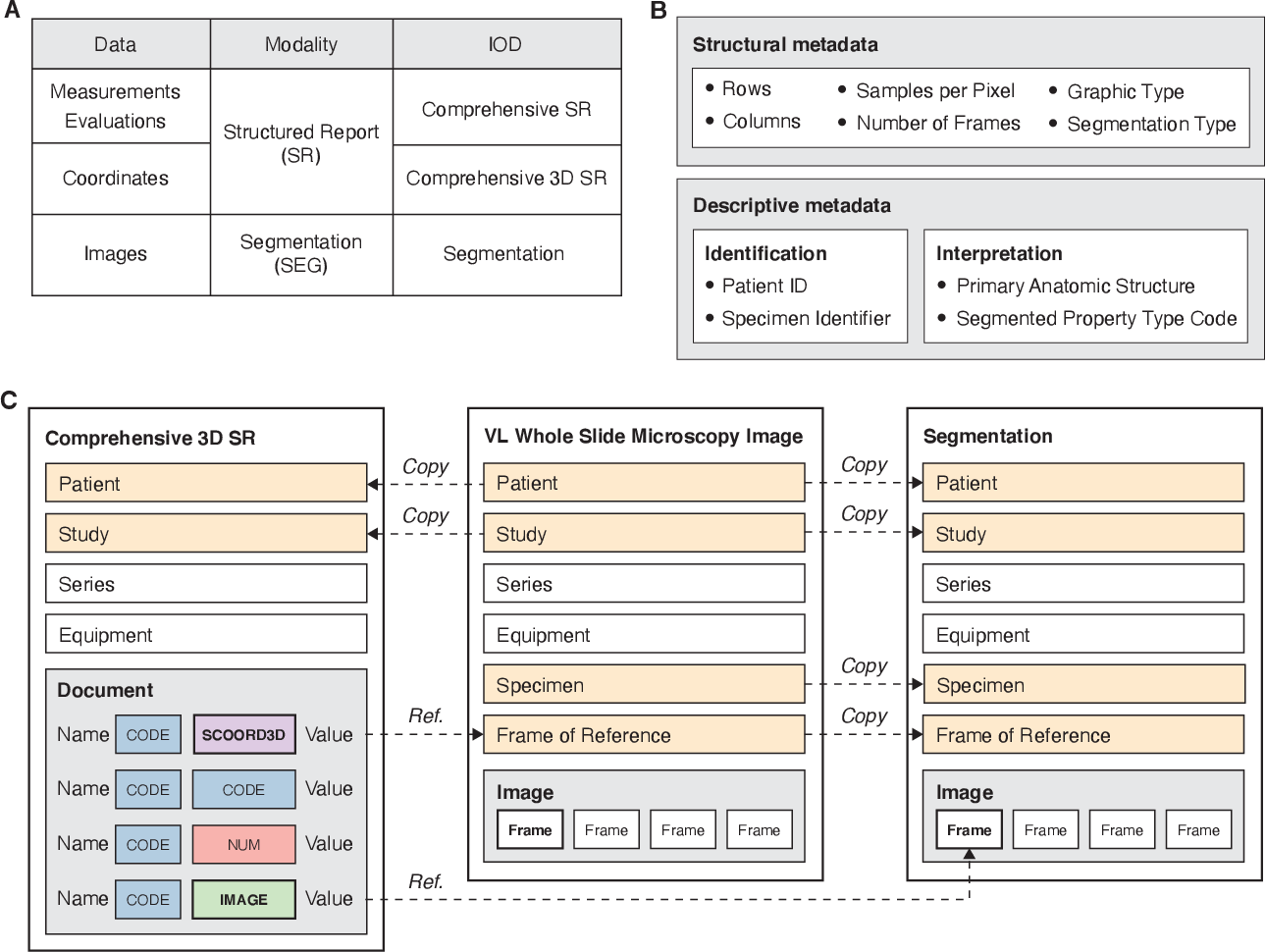 Figure 2 for Highdicom: A Python library for standardized encoding of image annotations and machine learning model outputs in pathology and radiology