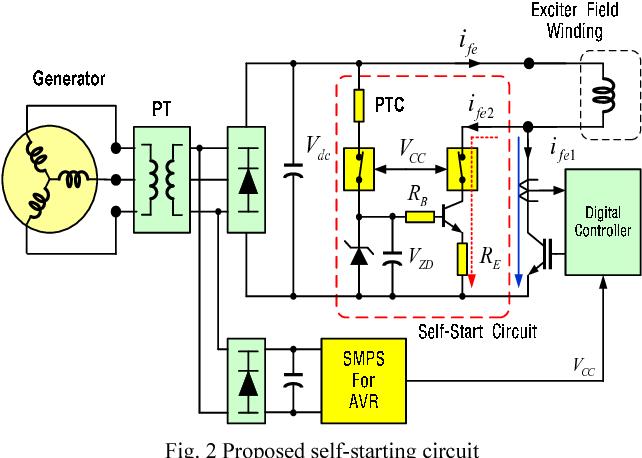 generator avr control circuit