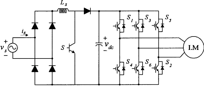 single phase to three phase converter circuit diagram