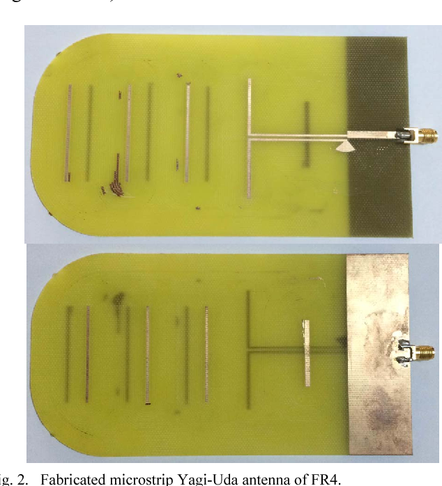 Figure 2 from Coplanar stripline-fed Microstrip Yagi-Uda antenna for