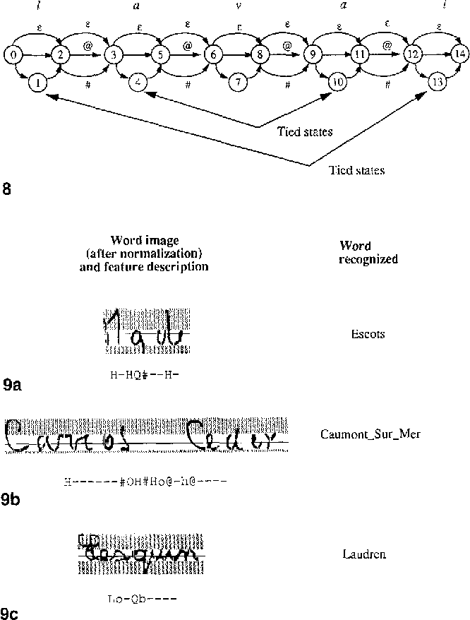 Fig. 8. Outline of the model for the word lavaI