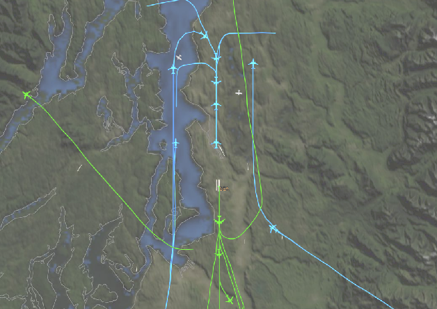 Figure 1 for Inverse Optimal Planning for Air Traffic Control