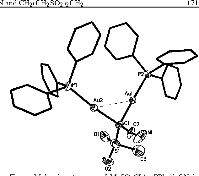 Figure 1 From Auration Of The Sulfones Meso 2 Ch 2 Cn And Ch 2 Ch