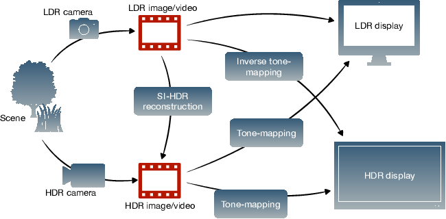 Figure 1 for How to cheat with metrics in single-image HDR reconstruction